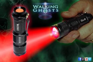 Deep Red LED Flashlight Torch Ghost Hunting Paranormal InvestigationTool/ UK